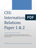 International Relations Notes by Ayesha Younas Paper 1 & 2