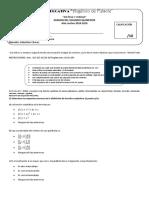 Examen Quimestral Matemática 10mo