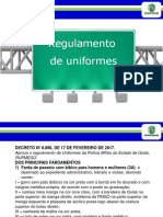 Slide - Regulamento de Uniformes - Aula 15