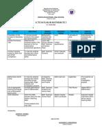Math Action Plan 2019-2020