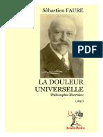 Sébastien Faure - La Douleur Universelle Philosophie Libertaire (1895)