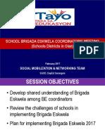 BE Coordinators Meeting