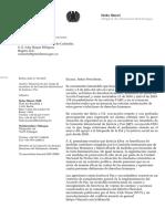 190716_Situación de Alto Riesgo Miembros Comision Intereclesial Justicia y Paz_Parlamentaria Heike Hänsel_Carta a Presidente Iván Duque