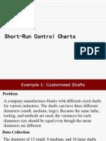 6. Short Run Control Chart