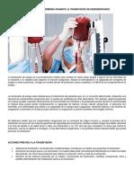 Cuidados de Enfermería Durante La Transfusión