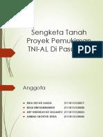 Sengketa Tanah Proyek Pemukiman TNI-AL Di Pasuruan