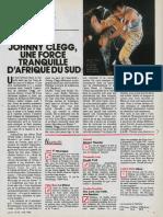 Interview de Johnny Clegg à Jeune Afrique (Juin 1988)