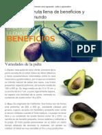 CT-La Palta Una Fruta Llena de Beneficios y Favorita en El Mundo
