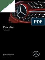 Price list AMG 2019