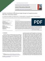 Aerobic Remediation of Petroleum Sludge Through Soil Supplementation