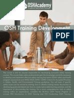 721Osh Training Development