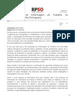 rpso.pt-Pós-Graduação de Enfermagem do Trabalho na Universidade Católica Portuguesa