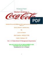 Docuri.com Market Strategy of Coca Cola Vijay Monga