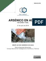Informe Arsénico en Agua