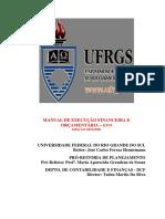 Manual de Execução Financeira e Orçamentária - UFRS