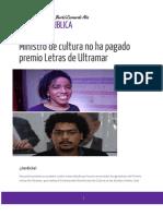 Comunicado de Incumplimiento Premio Letras de Ultramar