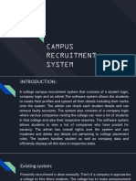 campus recruitment system