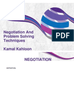 Negotiation and Problem Solving