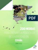 '200 medidas para frenar la pérdida de biodiversidad'