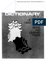 Dictionary of Terms Used in the Hides, Skins, And Leather Trade