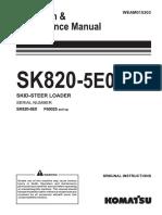 Manual de operación minicargador SK820-5E0