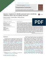 dynamic simulation of a flexible pavement sdfsdf sdf