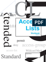 Access List Solution Access Lists Workbook Student Edition v1.5