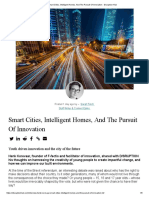 Smart Cities, Intelligent Homes, And The Pursuit Of Innovation - Sarah Finch