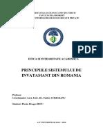 Principiile Sistemului de Invatamant Din Romania