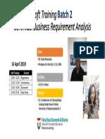 Pelatihan Sertifikasi Business Requirement Batch 2_flyer