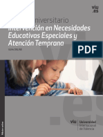 Catálogo Máster Universitario en Educación Especial