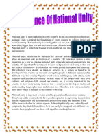 Importance Of National Unity.docx