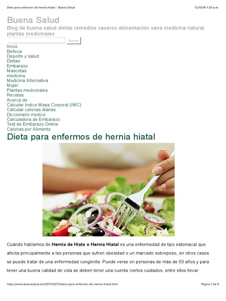 receta casera para curar hernia de hiato