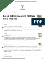 Linea Del Tiempo de La Historia de La Moneda