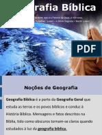 Aula de Geografia Bíblica