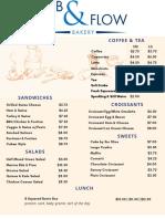 ebb&flow menu