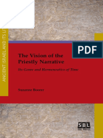 (Ancient Israel and Its Literature 27) Suzanne Boorer - The Vision of the Priestly Narrative_ Its Genre and Hermeneutics of Time-SBL Press (2016)