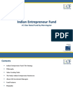 Indian Entrepreneur Fund Presentation
