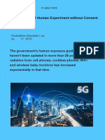 5G Experiment on Humans