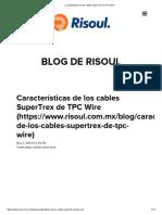 Características de Los Cables SuperTrex de TPC Wire Cable Tpcl