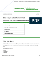 Calculation Method for Design Silos and Hoppers - Silos and Hopper Flow of Powder - Flowability Issues Solving - Discharge Throughput (Beverloo Equation)