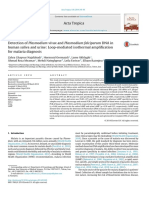 Detection of Plasmodium Vivax and Plasmodium Falciparum DNA in Human Saliva and Urine Loop-mediated Isothermal Amplification for Malaria Diagnosis