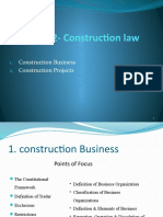 Chapter 2- Legality of Construction Business