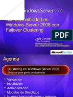 Alta Disponibilidad en Windows Server 2008 Con Failover Clustering