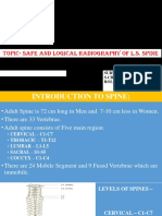SAFE AND LOGICAL RADIOGRAPHY OF L.S. SPINE