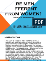 Are men different from woman?