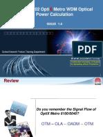 OptiX Metro WDM Optical Power Calculation ISSUE1.0 (2)