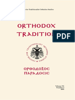 Orthodox Tradition magazine no. 3/2003