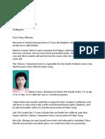 Guohua Huang's open letter to Jacinda Ardern
