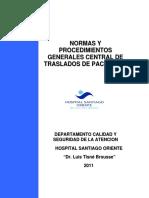 PROCEDIMIENTOS TRASLADO SEGURO DE PACIENTES